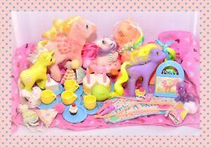 ❤️My Little Pony G1 Vtg Party Gift Pack FLUTTER Yum Yum Sea Celebrate Birthday❤️