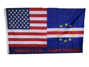 Details About 3x5 Usa American Cape Verde Friendship Combination Flag 3 X5 Banner Grommets