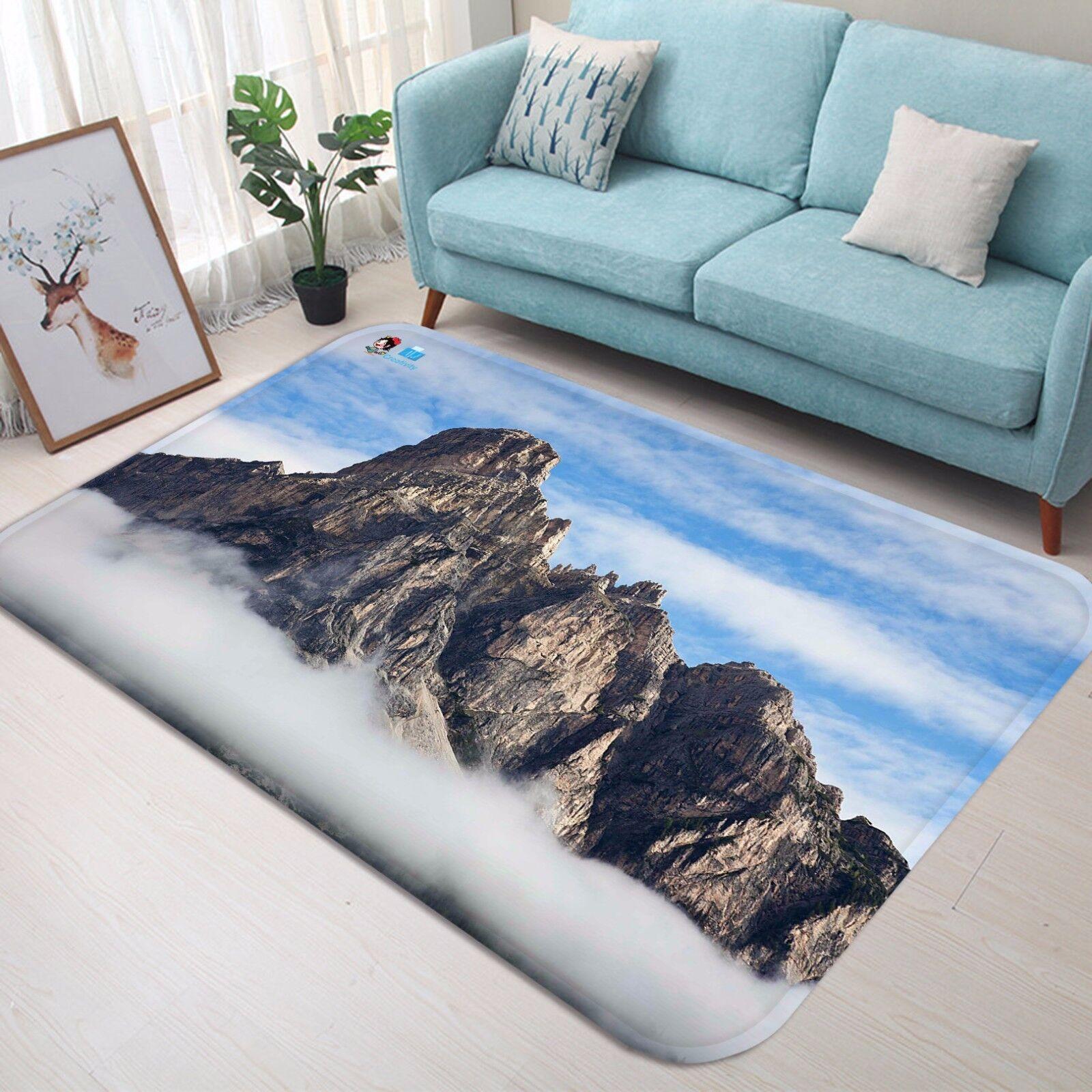 3d montaña niebla 42 antideslizante alfombra de maletero calidad elegante alfombra de