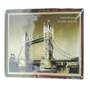 Blechschild-London-Tower-Bridge-Metall-Schild-30-cm-Nostalgie-Metal-Shield
