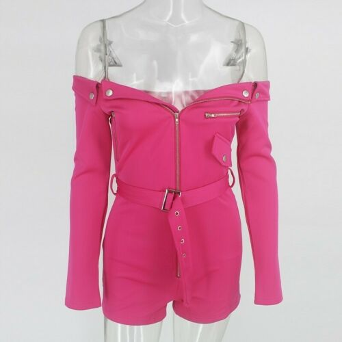 New BARBIE Pink Blue *High Waist* 2 Two Piece Romper Off Shoulder Outfit DRESS