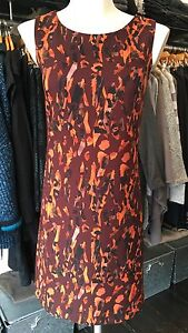 SAVE-THE-QUEEN-NS-AW16-BURNT-ORANGE-amp-REDS-PRINT-DRESS-S-M-L-XL