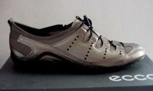 46f75cbabd98 Women s Ecco Vibration II Speedlace Shoe Toggle Grey Metallic Sz 37 ...