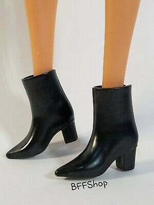 MATTEL BLACK BOOTS ~ BARBIE NUTCRACKER SHOES FOOTWEAR FASHIONISTAS FASHION
