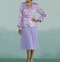 Andi Purple Skirt Suit Pleated NEW NWT size 6 Ashro 2-Piece Mother of the Bride