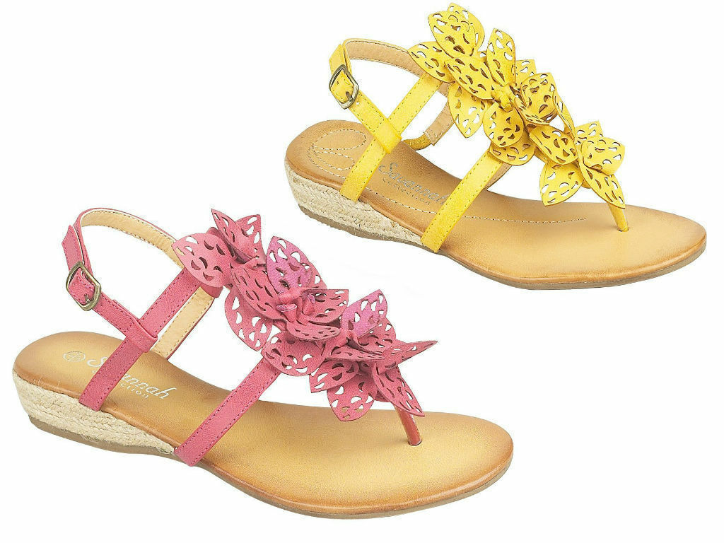 Ladies Toe Post Fuchsia Sandals centre Petals Black Camel Ice Fuchsia Post Yellow L6060 c38e9e