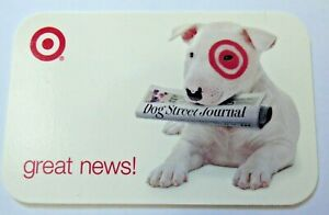 Target-Gift-Card-Bullseye-Dog-Street-Journal-Newspaper-2007-No-Value