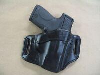 Taurus 740 Slim 40 Owb Leather 2 Slot Molded Pancake Belt Holster Ccw Black Rh