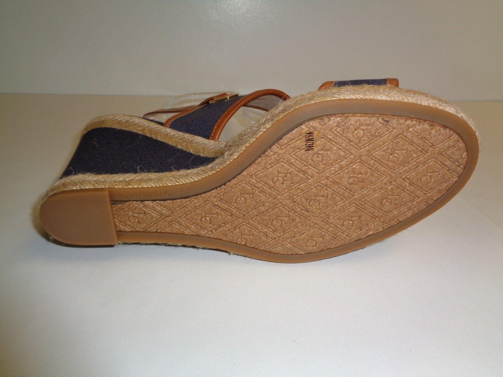 b696c60c59c4 ... Louise et Cie Taille 9.5 9.5 9.5 M REBEKAH Navy Leather Fabric Sandals  New femmes chaussures ...