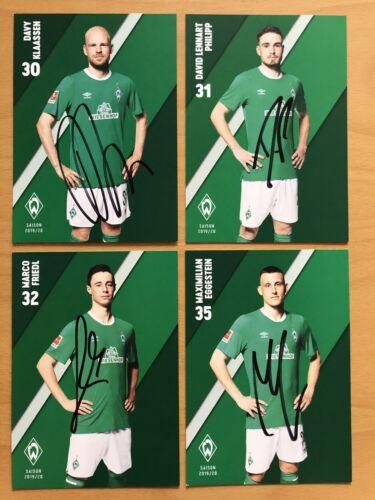 Vorstand 37 AK SV Werder Bremen Autogrammkarten 2019-20 original signiert inkl
