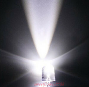 50x-10mm-25000mcd-LED-Lamp-Ultra-Bright-White-LEDs-DIY-LED-Bulb-10mm-white-led