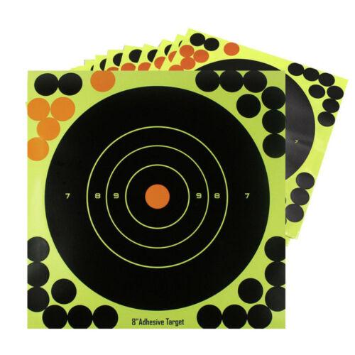 """10pcs Shooting Targets Glow Shot Reactive Splatter Gun /& Rifle 8/"""" Paper Target"""