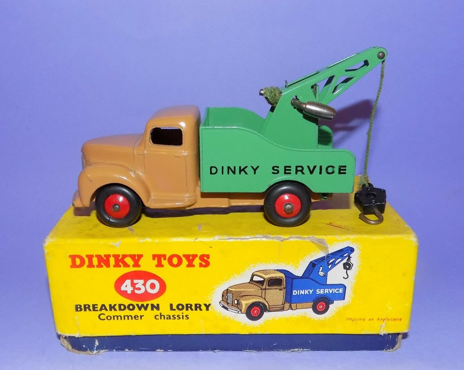1954-1964  DINKY TOYS  NO 430  BEDFORD BREAKDOWN LORRY  IN ORIGINAL BOX