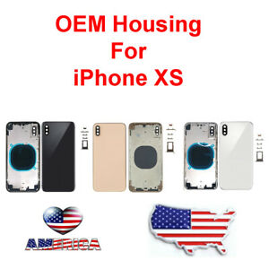 OEM-Back-Glass-Housing-Cover-Frame-Battery-Assembly-Door-Fits-Apple-iPhone-XS