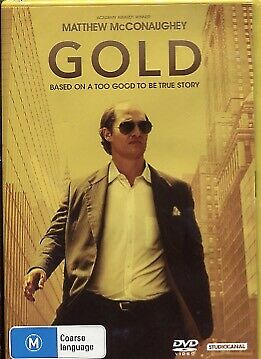 Gold (DVD, 2017) - Matthew McConaughey, Edgar Ramírez, Bryce Dallas Howard