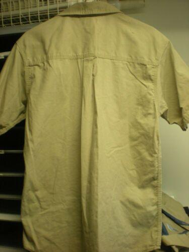 Carhartt 2XL Men/'s Short Sleeve Work Shirt Tan GOOD Condition //