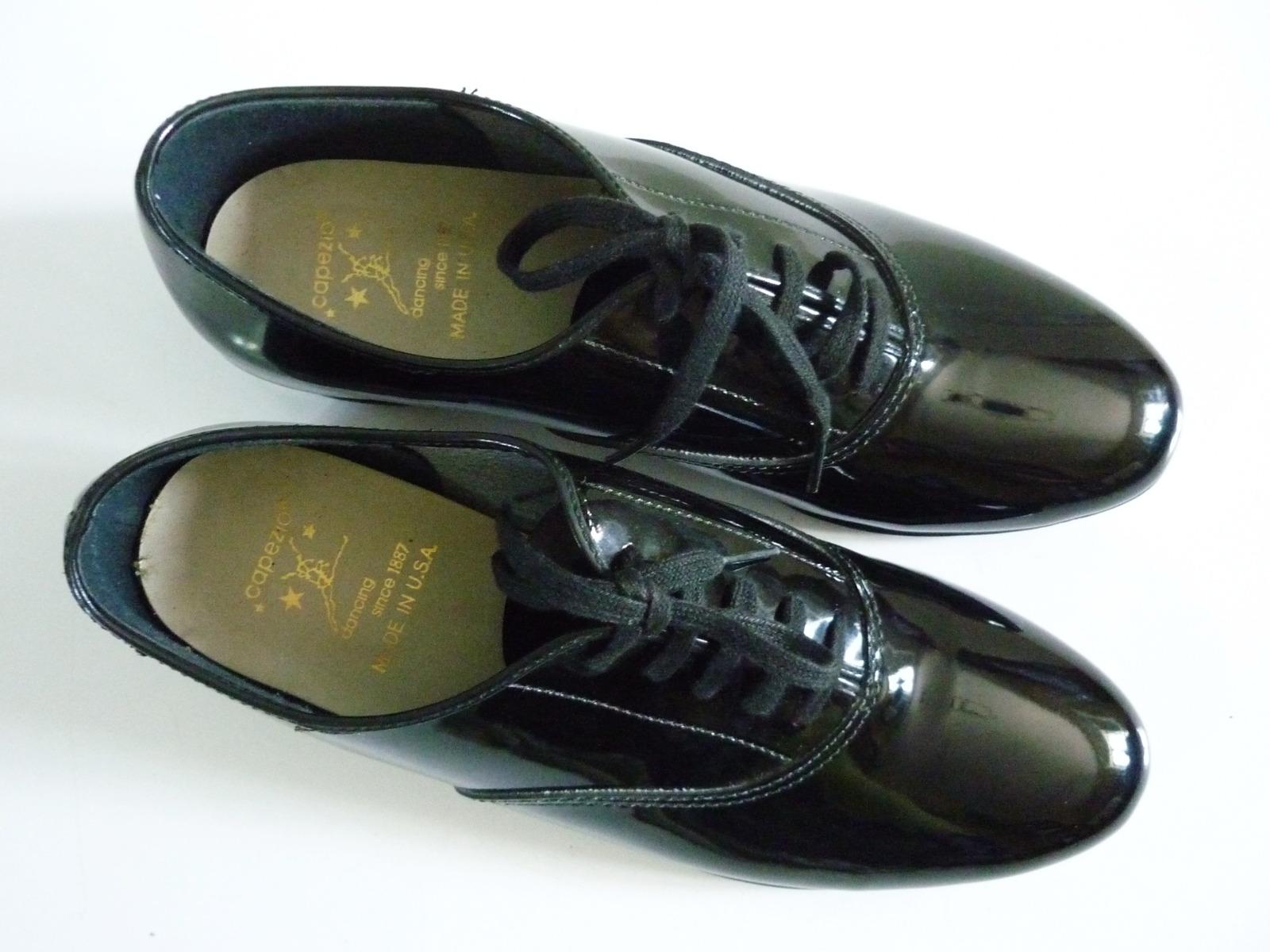 Children/'s Capezio Tap Dance Shoes Black Patent Size 2.5 D Boy/'s Oxfords
