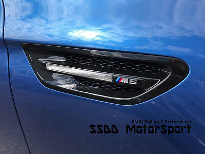 BMW F82 F83 M4 F80 M3 Competition Gloss Black Side Vents Grilles UK Stock