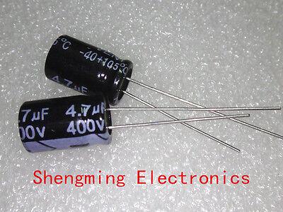 20pcs 4.7uF 400V Electrolytic Capacitor 400V4.7UF 8x12mm