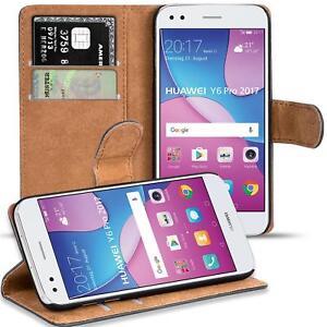 Handy-Huelle-fuer-Huawei-Y6-Pro-2017-Case-Schutz-Tasche-Cover-Basic-Flip-Bookcase