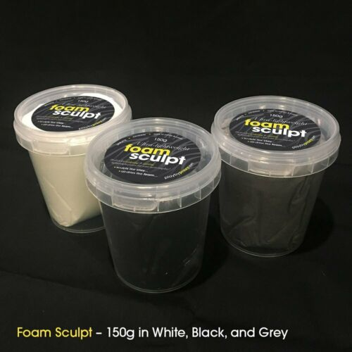 150gm Black Mouldable Foam Clay for Cosplay PlayByProxy Foam Sculpt