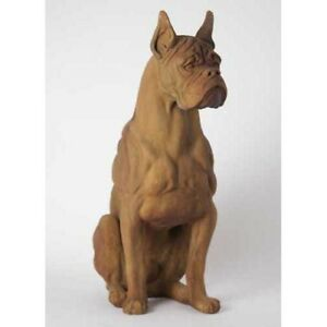 Image Is Loading Large Boxer Dog Outdoor Indoor Garden Statue Handcrafted