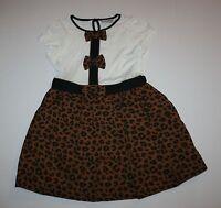 Next Uk Pretty Leopard/animal Print Summer Dress Size 5 6 Year Or 116cm
