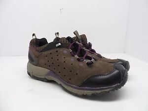 Merrel-Women-039-s-Avian-Light-Leather-Bracken-Hiking-Trail-Shoe-Brown-Purple-8-5M