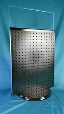 "Azar 20"" x 16"" Revolving Pegboard Counter Display w/ Plexi Sign Insert & 30 Pegs"