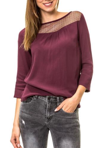 Only Damen Langarmshirt Blusenshirt O-Neck Tunika Damenbluse Langarmbluse Bluse