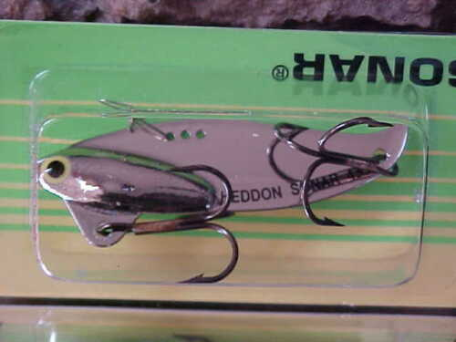 Heddon Sonar XO433NP Color Chrome//Nickel Blade Lure Bass//Zander//Pike//Walleye