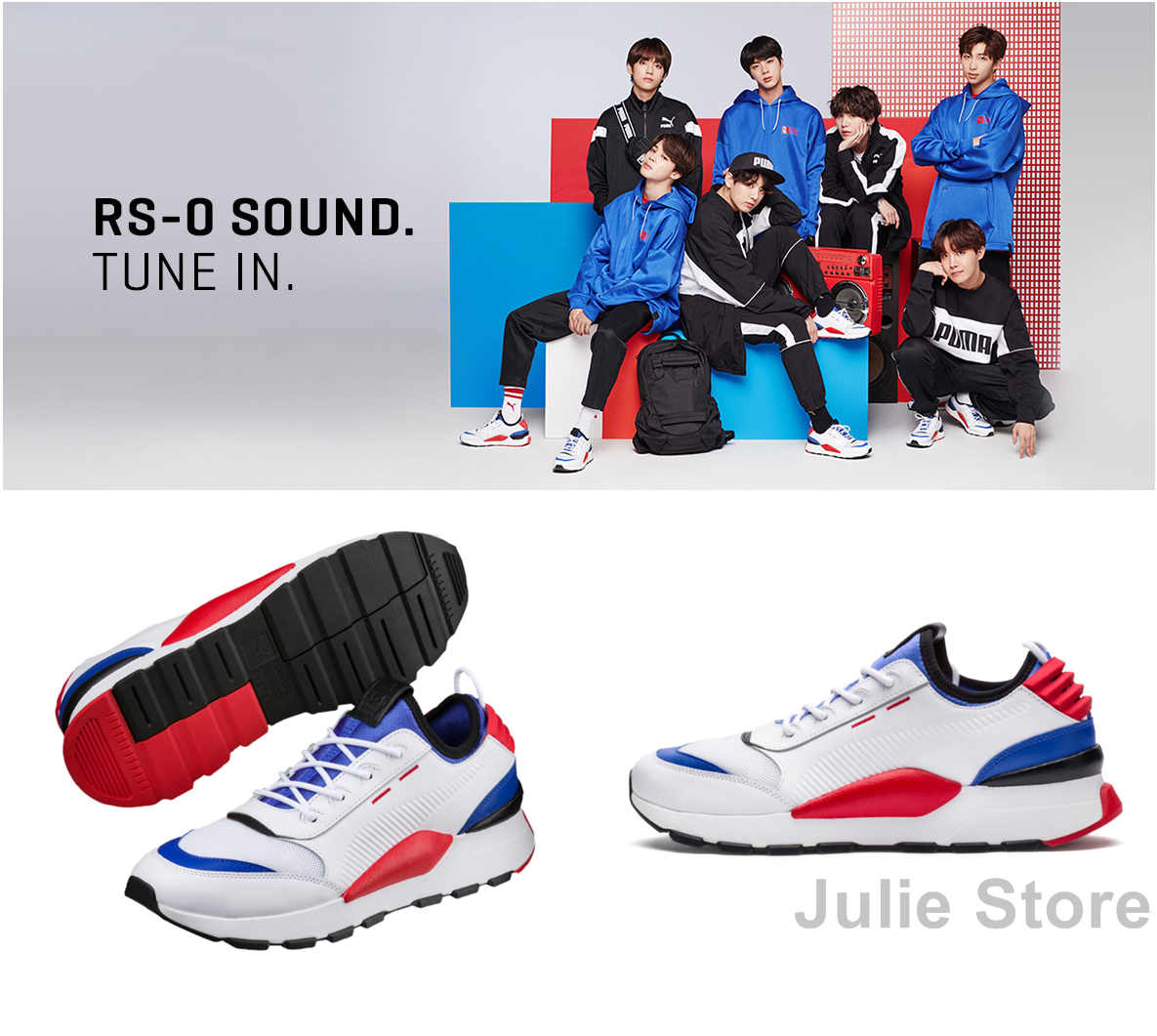BTS PUMA RS 0 Sound 366890 New Official Collaboration 3 Farbes RS-0 Sound RunBTS