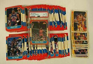 1986-87 Fleer Basketball Complete Set w/ Michael Jordan RC Rookie PSA 8 NM-MT