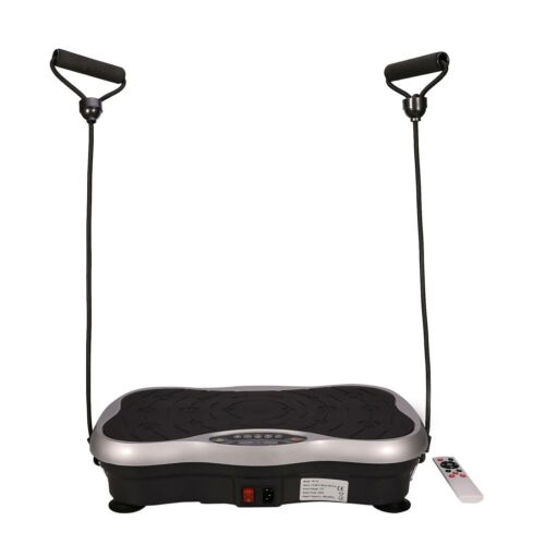 200 W Vibrationsplatte Fitness Fläche Ganzkörper Trainingsgerät Rutschfest LCD