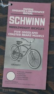vintage schwinn cruiser bicycle owner s manual typhoon hollywood rh ebay com schwinn ranger 2.6 fs owner's manual schwinn ranger 2.6 fs owner's manual