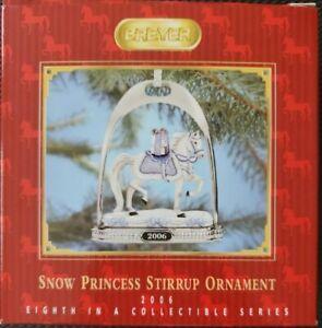 Breyer-700306-2006-Snow-Princess-Holiday-Horse-Stirrup-Ornament-NIB