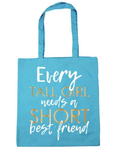 Every Tall Girl Needs A Short Best Friend Tote Shopping Gym Beach Bag 42cm x38cm