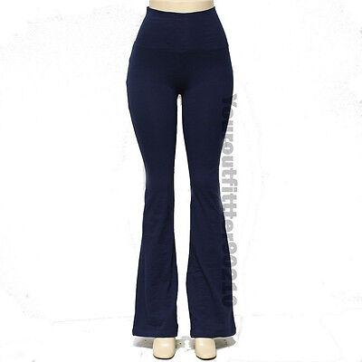 YOGA Pants Athletic Fitness Foldover Waistband Flare Leg & Tight Leg 95% Cotton