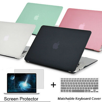 """Rubberized Hard Case Keyboard Cover /& Screen Protector for 2016 MacBook Pro 13/"""""""