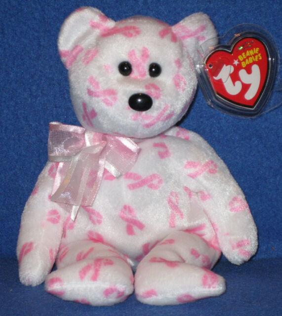 Giving RARE Retired 2007 Ty Beanie Babie 8in Cancer Bear 3up Boys Girls  40572 0c6c6200cdd3