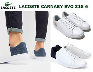 e4e915578956b Lacoste Mens Shoes CARNABY EVO 318 6 WHITE Casual Sneakers NEW ...