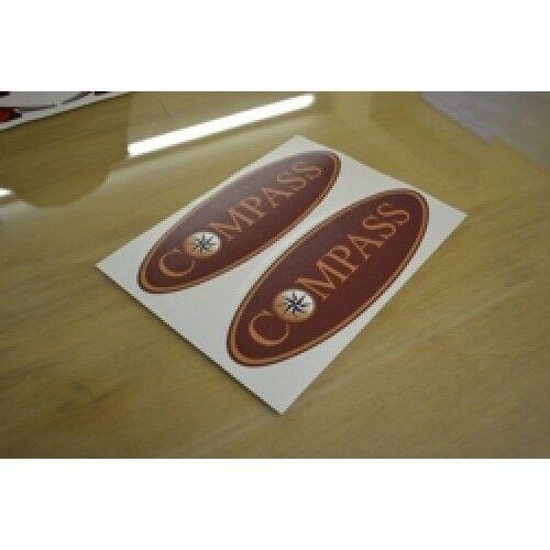 - Oval Pegatina Calcomanía Gráfico brújula plana Vinilo//Resina Cúpula nuestro propio diseño