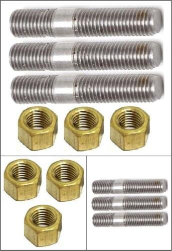 Land Rover Series Petrol Exhaust Manifold Downpipe Studs /& Brass Nut SET 568664