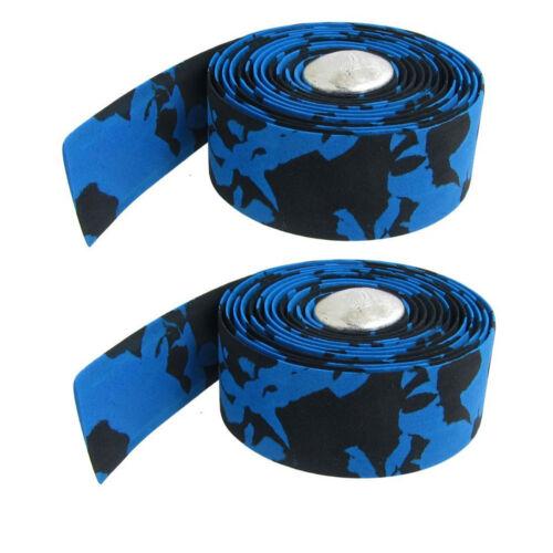2 Stück blau schwarz Fahrräder Lenkerband Z4P2