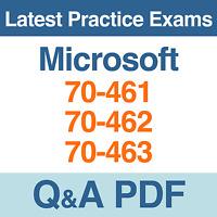 Microsoft Practice Tests Mcsa Sql Server 70-461, 70-462, 70-463 Exams Q&a Pdf
