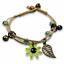 miniature 13 - Bracelet Flower Daisy Beads Girls Ceramic Charm Jewellery Silver Ankle Girls