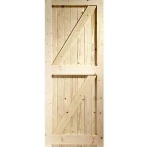 Image is loading External-Pine-Doors-Framed-Ledged-&-Braced-Boarded-  sc 1 st  eBay & External Pine Doors Framed Ledged u0026 Braced Boarded Softwood Exterior ...