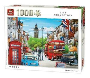 1000-Piece-City-Collection-Jigsaw-Puzzle-LONDON-CAB-BUS-BIG-BEN-PHONE-BOX-05361