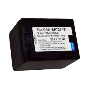 2680mAh-BP-727-Intelligent-Battery-for-Canon-VIXIA-HF-R400-R500-R600-R60-R62