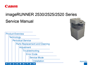 canon imagerunner 2520 2525 2530 service and parts manual ebay rh ebay com canon ir 4045 service manual canon ir adv 4045 service manual